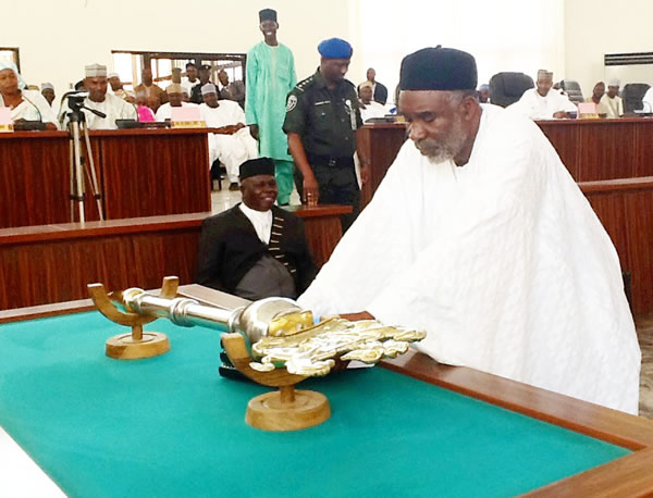GOV. MURTALA NYAKO PRESENTING THE 2014 BUDGET ESTIMATES TO THE STATE HOUSE OF ASSEMBLY, YOLA