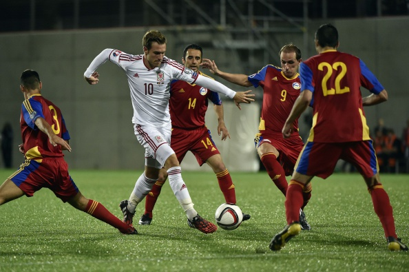 Aaron Ramsey During Wales Euroa 2016 Qualifier in Andorra. Image: PASCAL PAVANI/AFP/Getty .