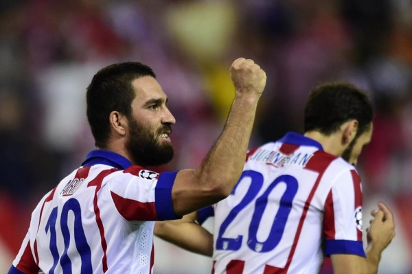 Arda Turan's Solitary Strike Crushed Juventus at the Vicente Calderon on Match Day 2. Image: Getty