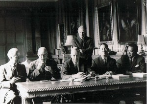 The signing of the Cobbold Report of the Commission of Enquiry, North Borneo and Sarawak, at Knebworth House, London on 21 June 1962 image: Wikipedia