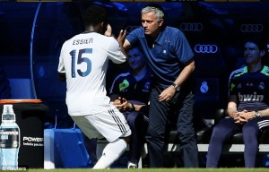 Movement! Lets Go Home: Essien celebrates His Goal With His Boss.