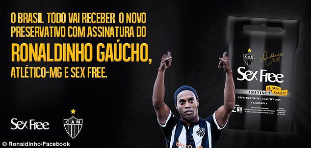 Ronaldinho Endorses Condom.