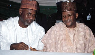 ALHAJI GARBA UMAR & DANBABA SUNTAI BEFORE THE AIR MISHAP