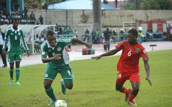 Emmanuel Emenike Picked Up a Yellow Card in the Game Against Malawi On September 7.