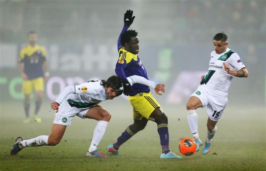 Ivorian, Wilfried Bony, in Action for Swansea.