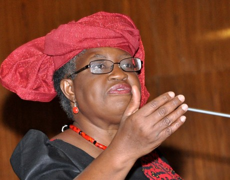 COORDINATING MINISTER FOR THE ECONOMY AND MINISTER OF FINANCE, DR NGOZI OKONJO-IWEALA  PRESENTING 2014 FEDERAL BUDGET IN ABUJA ON MONDAY (20/1/14).