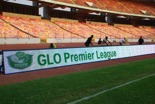 Improving the NPFL: LMC's Digital Display Perimeter Panel in Use During a Super-Four Tie in Abuja.