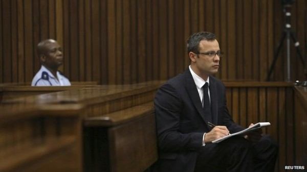 Oscar Pistorius Jots Down Notes During His Murder Trial.