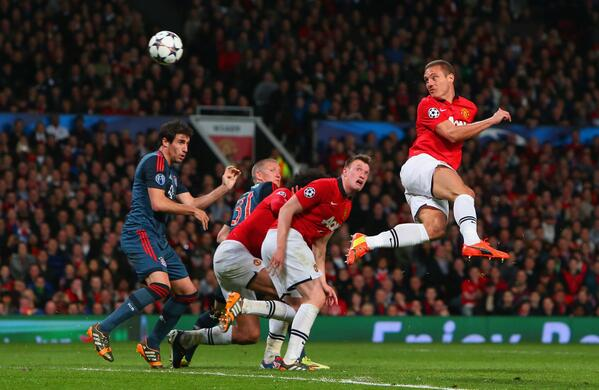 Vidic Last Scored at Old Trafford Against Bayern Munich in a Champions League Semi-Final First Leg Tie.