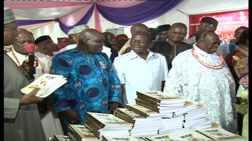 DIGNITARIES AT THE BOOK LAUNCH IN BENIN CITY, EDO STATE