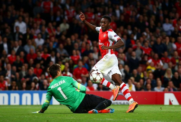 Danny Welbeck Scores His First Professional Hat-Trick Against Galatasaray at the Emirate Stadium. Image: Getty.