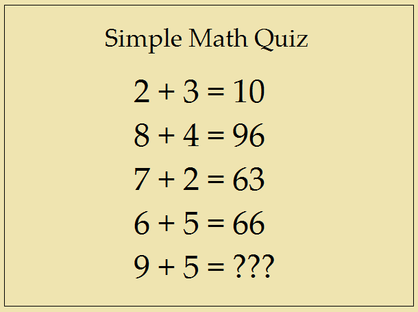 Simple Math Quiz – Answer This Simple Question