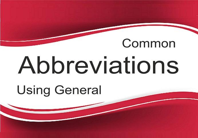 Most Common & Important Abbreviations