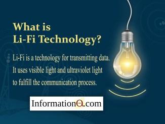 Li-Fi is a technology for transmitting data.