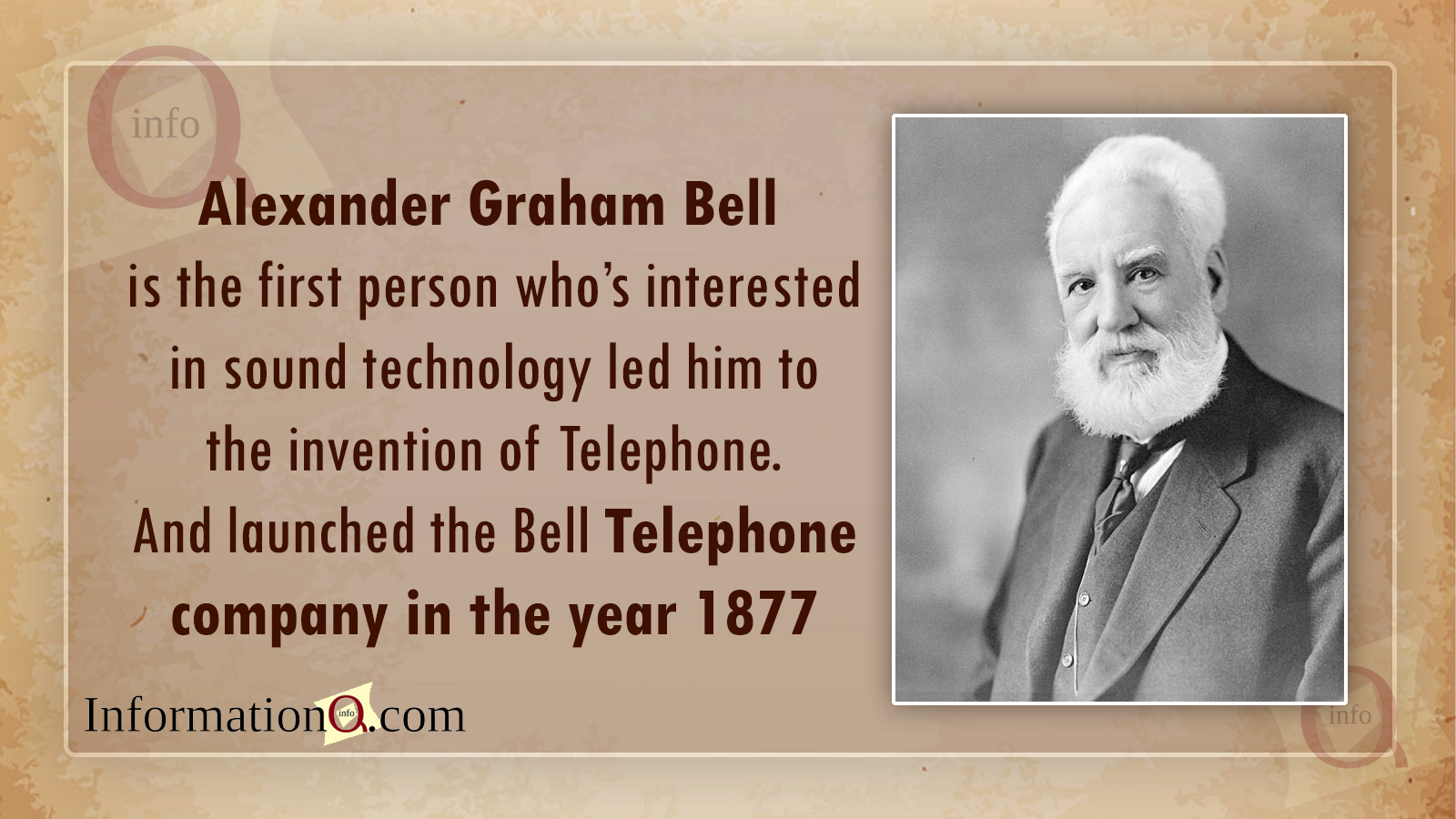 Alexander Graham Bell  – Father of telephone