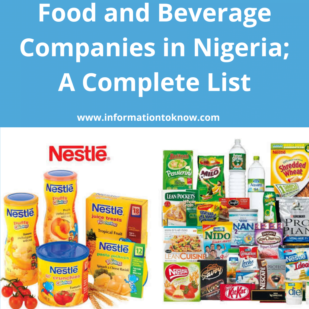 Food and Beverage Companies in Nigeria