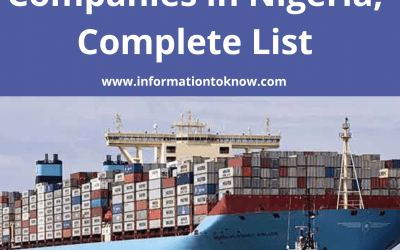 Top Shipping Companies in Nigeria