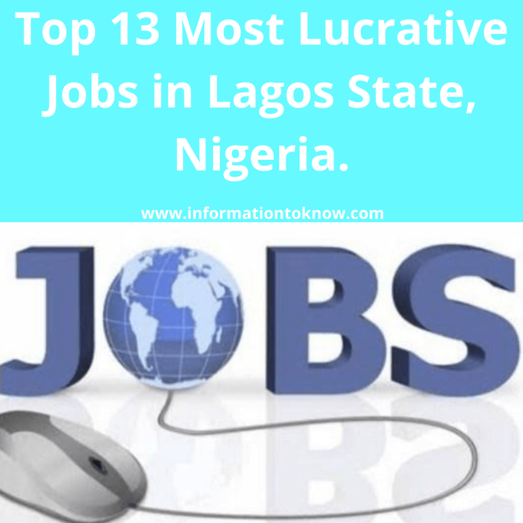 Most Lucrative Jobs in Lagos State Nigeria