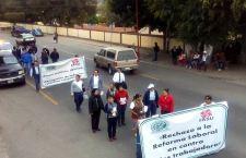 Condenan telefonistas de Huajuapan desaparición de pensiones