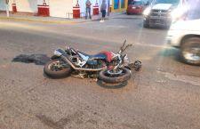 Choque de moto deja un lesionado
