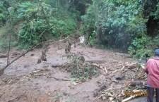 Derrumbes impiden paso a Santa María Yucuhiti