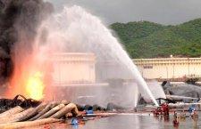 No hubo muertos en incendio de refinería de Pemex en Salina Cruz: Murat