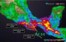 Suspenden clases en Costa, Istmo y Sierra Sur por sistema ciclónico en el Pacífico