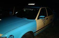 Abandonan taxi robado en Tonalá