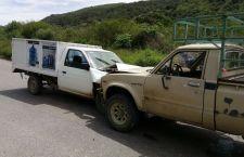 Dos menores lesionados por choque de camionetas