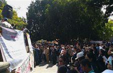 Díaz Pimentel unifica a trabajadores de Salud en su contra; 12 mil salen a la calle a exigir su renuncia