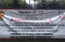 Piden trabajadores de Salud audiencia con Murat para exigir la renuncia de Juan Díaz Pimentel