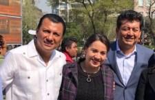 El priísta Corpus, el candidato al Senado por el PRD; Gurrion, el candidato del PAN en la capital