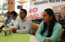 Reclaman obras integrantes de Antorcha Campesina