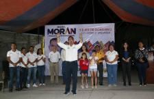 Miguel Morán Madrazo, cierra campaña política con total certeza de triunfo