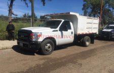 Aseguran camión; fue robado en Iztapalapa, CDMX