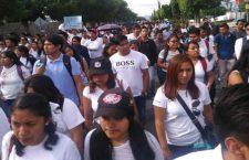 Estudiantes de Tehuacán que participaron en marcha por la paz son amenazados