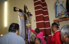 Bendicen imagen del Señor de los Corazones que llegó a la Mixteca en 1887