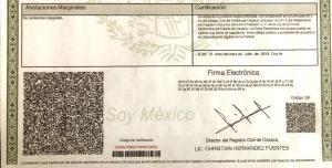 Actas De Nacimiento No Perderán Vigencia En Oaxaca