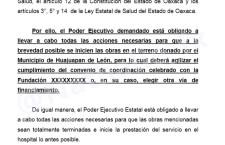 Vence plazo ordenado por Suprema Corte para construcción del hospital de Huajuapan