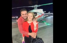 Alcalde de Morena en Tehuacán renta un helicóptero para pedirle matrimonio a su novia, la directora de Turismo