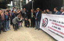 Periodistas y reporteros protestan contra agresiones al gremio periodístico en la CDMX