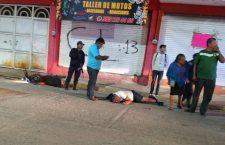 Derrapa en motocicleta en Santa Teresa, Huajuapan