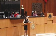 Senadora pide apoyo a CEAV para saxofonista agredida con ácido
