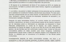 Esposa de Vera Carrizal acusa linchamiento, amenazas y tentativa de secuestro contra su familia