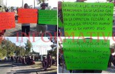 Se manifiestan por ataque armado a autoridades de Laguna Guadalupe, Putla