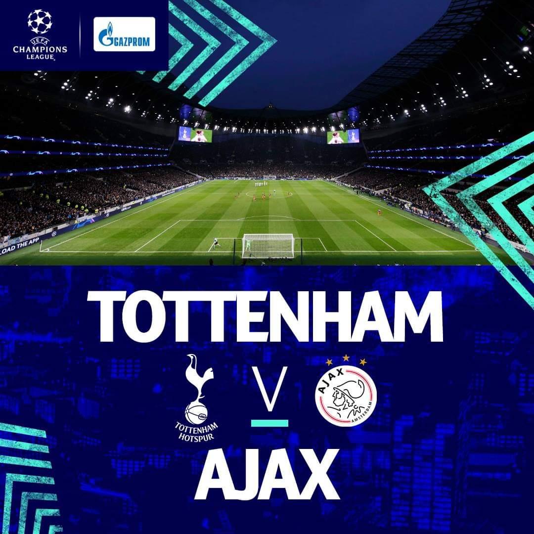 UCL: Tottenham e Ajax jogam hoje para a primeira mão das meias finais