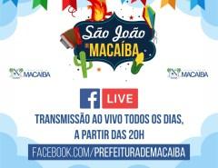 Prefeitura de Macaíba transmite nosso São João ao vivo todas as noites a partir das 20h
