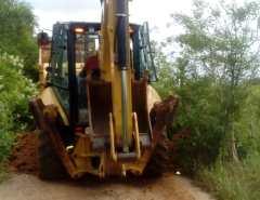 Fotos: Trabalho de patrolamento em Mata Verde, zona rural de Macaíba