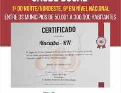 Macaíba conquista 1º lugar em saúde bucal do Norte e Nordeste