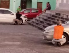 Macaíba: PM troca tiros com bandido que faz criança de refém na Igreja Matriz